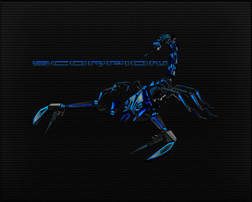 Black-Blue Scorpion Wallpaper