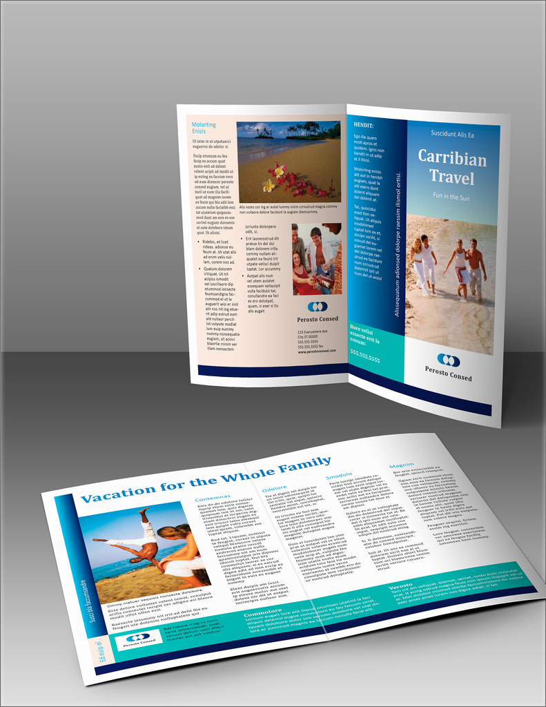 brochure travel carribian