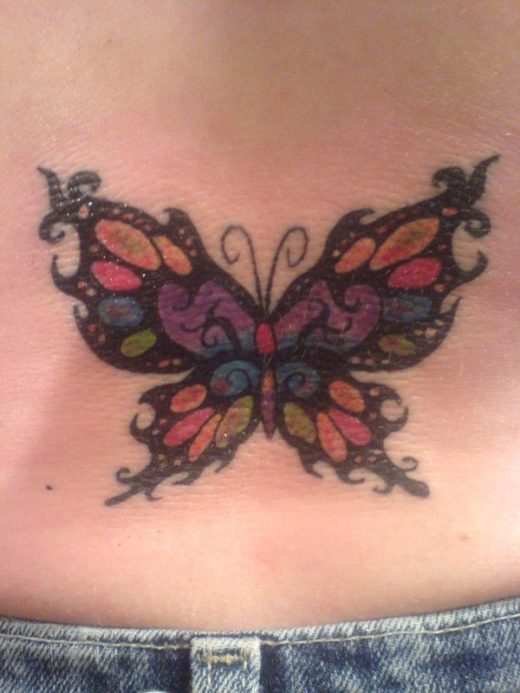Butterfly Tattoo Tribal wColor