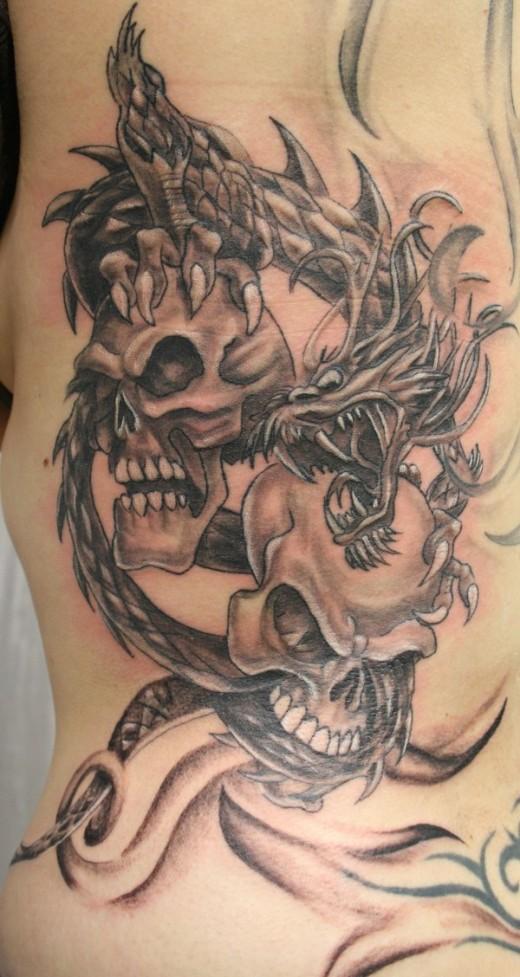 Dragon Skulls Tattoo