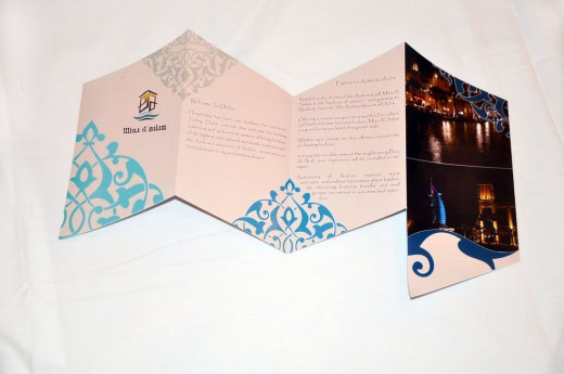 Hotel Brochure Front Opened