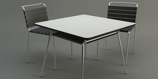 How to model a Table and a Chair with 3ds Max