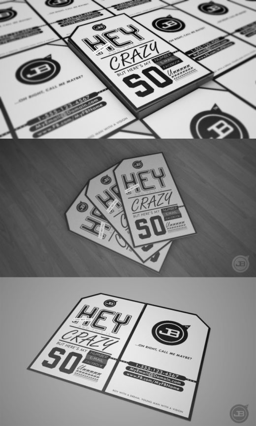 JB Typographic Business Card