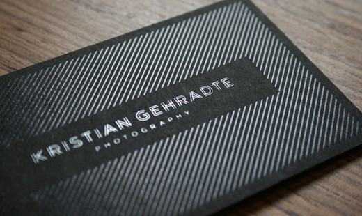 Kristian Gehradte Photography Business Card