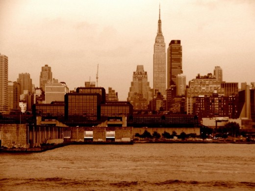 Sepia New York Skyline