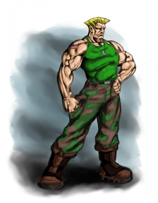 Speed painted Guile