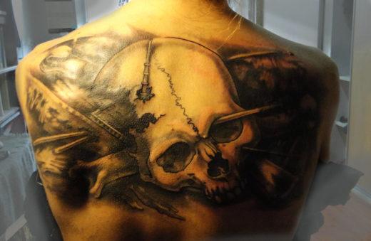 Tattoo - Skull and Broken Ship