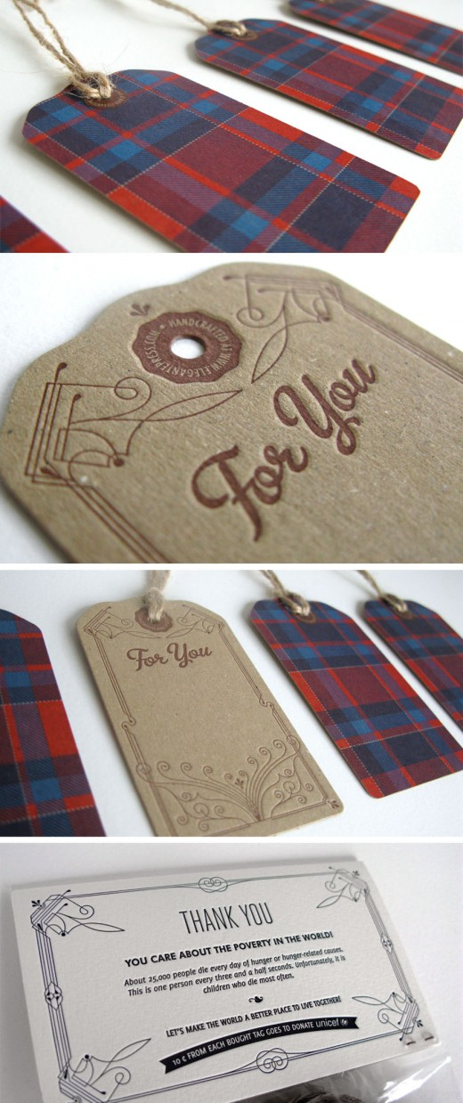 Vintage Letterpress Swing Tags