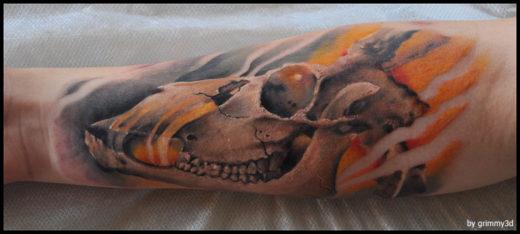 Animal Skull Finished
