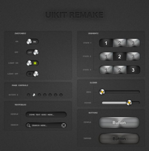 iPhone UI Kits Light Remake