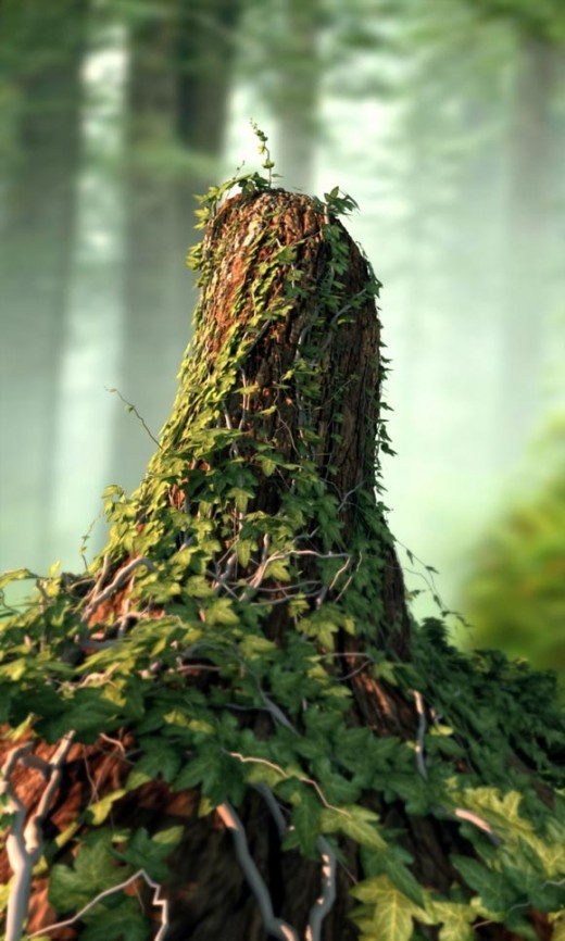 Create an Ivy Covered Tree Stump with 3ds Max