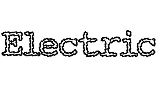 Electricity Writing Font