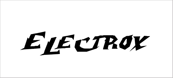 25 best examples of free artistic electric fonts