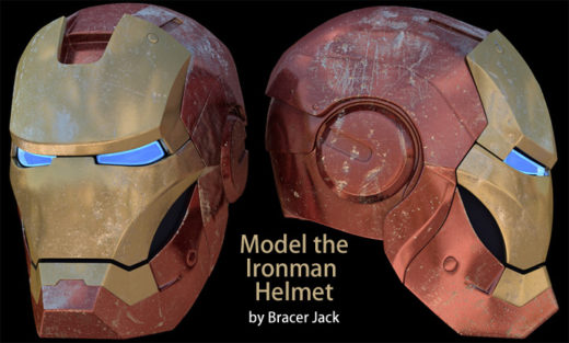 Model of Iron Man Helmet