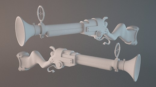 Modeling an Awesome High Poly Stylized Rifle in 3D Studio Max