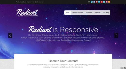 Radiant WP Colorful, Beautiful, Responsive