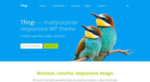 Tfingi • Responsive Multipurpose WordPress Theme