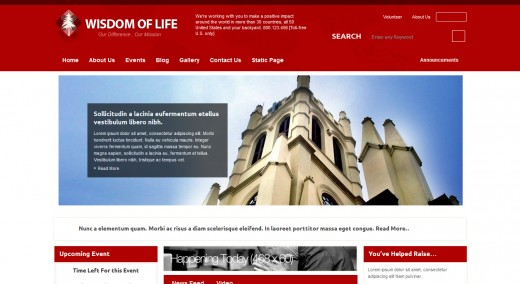Wisdom Of Life NGO and Charity Theme
