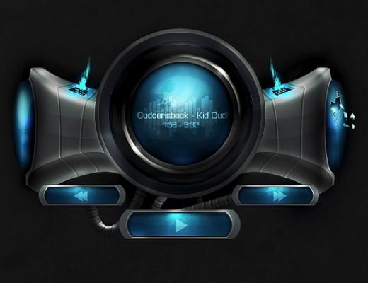 Create a Futuristic Music Player Interface in Photoshop