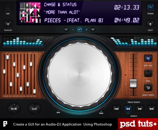 Create a GUI for an iPad Audio-DJ Application Using Photoshop