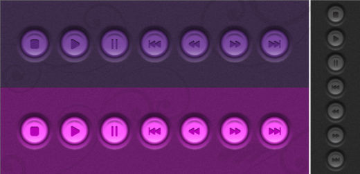 Create a Set of Embossed Player Buttons