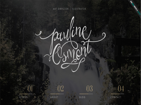 pauline-osmont - Typography Inspiration Websites