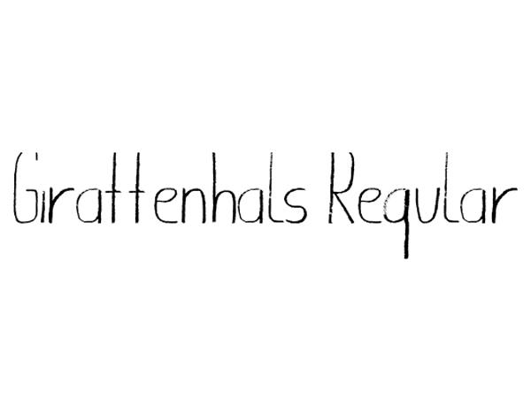 giraffenhals-font