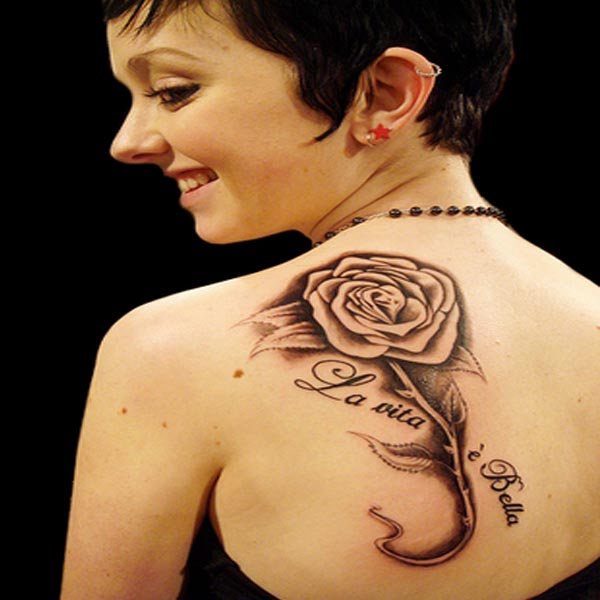 la-vita-e-bella-rose-tattoo - Rose Tattoo Designs